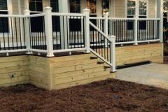 7.White Aluminum handrail