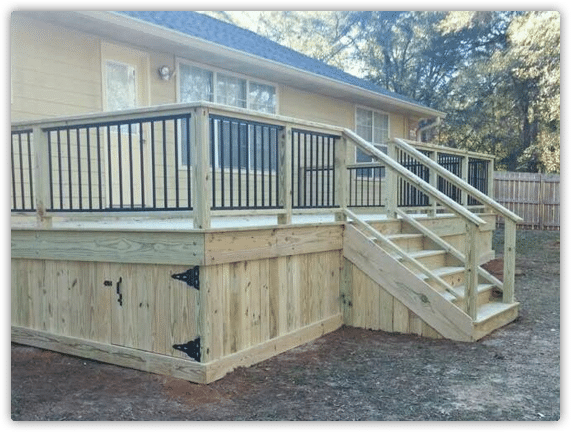 Wood Deck Installation G S Fence And Deck Tallahassee
